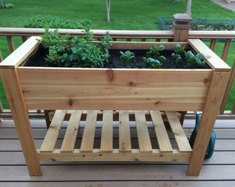 Elevated Cedar Planter