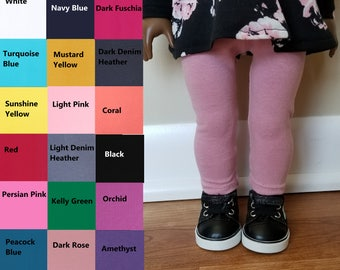 Leggings for 18 inch dolls such as American Girl Dolls-Made to Order- Choose Your Color