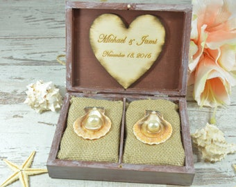 Wedding Ring box Anchor Beach Ring Holder Personalized Ring