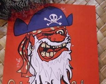 "YO HO HO! Limited Edition 8.5"" x 11"" Pirate Print for your Tiki Bar!"