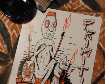 """PRIMITIVE... That's How I Live 8.5"""" x 11"""" Limited Edition Tiki Art Print feat. MAI KAI Tikis!"""