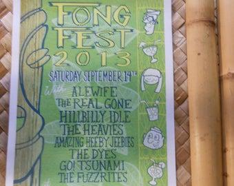 "FONG FEST 2013 Tiki Festival at Chef Shangri La 11"" x 17"" Art Print"