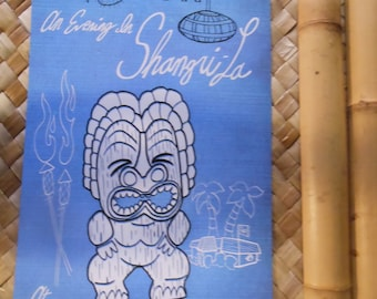 """EVENING in SHANGRI LA 11"""" x 17"""" Limited Edition Poster Print with Witco Tiki for Chef Shangri-La!"""