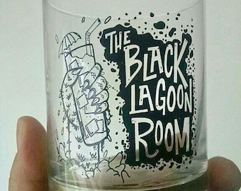 Black Lagoon Room Tiki Bar Cocktail Glass