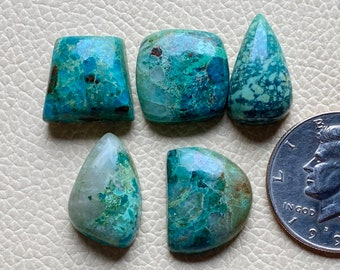 Shattuckite Azurite Cabochon Made In USA  Blue Cabochon  For Sterling Silver Gold Handmade Jewelry