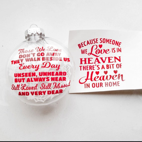 Those We Love Because Someone We Love Christmas Ornament Etsy