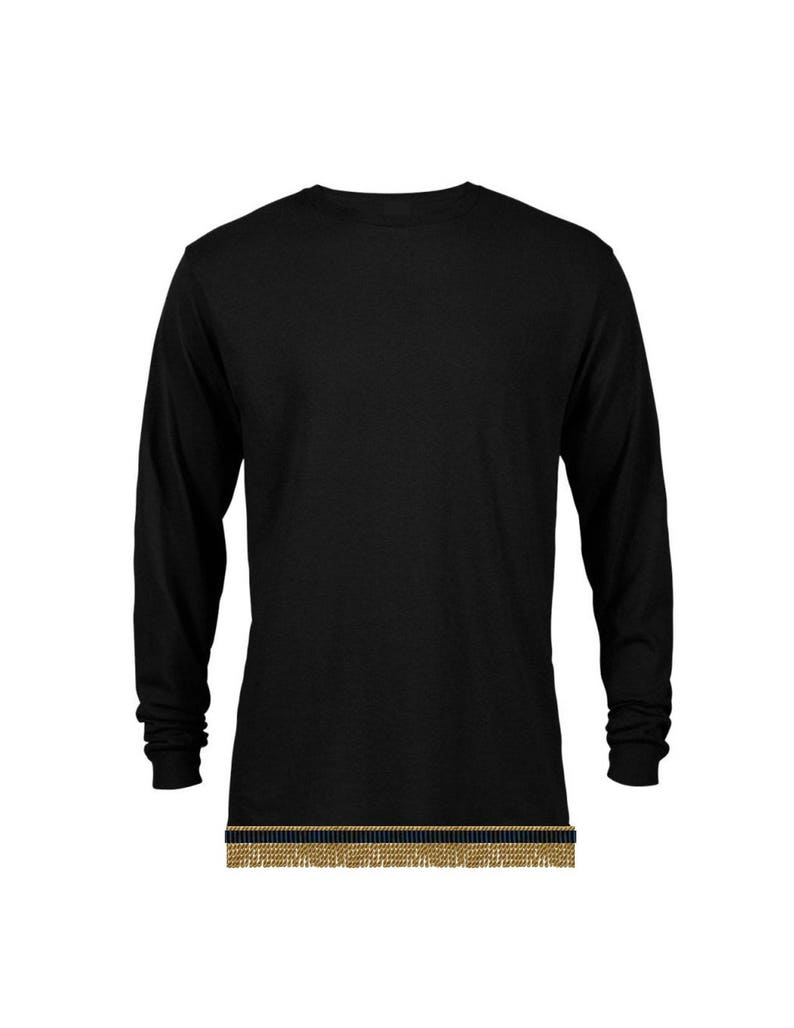 271443a63cd Black Long Sleeve T-Shirt with Fringes perfect for Hebrew