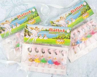 Ballerina Birthday Candle Holder Vintage Plastic Ballet Dancer Cake New Old Stockl Kitsch Package Cup Pick