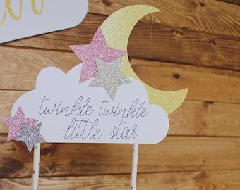 Twinkle Twinkle Little Star   Baby Shower   Gender Reveal   First Birthday   Twinkle Little Star Cake Topper   Baby Shower Cake Topper