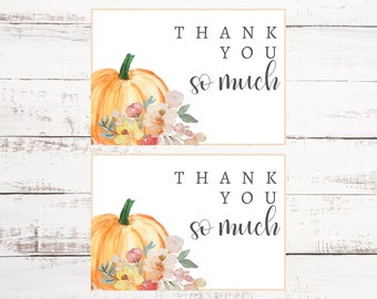 Little Pumpkin Thank You Card   Pumpkin Thank You   Fall Baby Shower   Birthday Party   Printable Thank You Card   Downloadable PDF