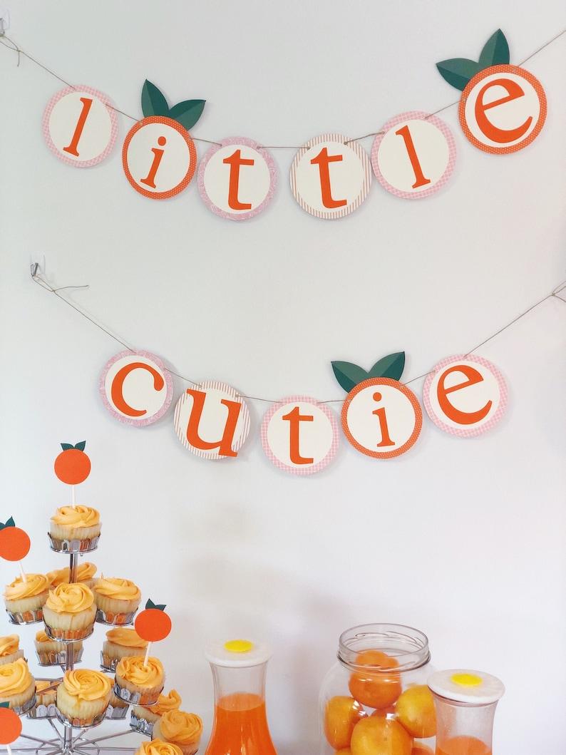 Little Cutie Baby Shower Decorations Banner  Gender Neutral image 0