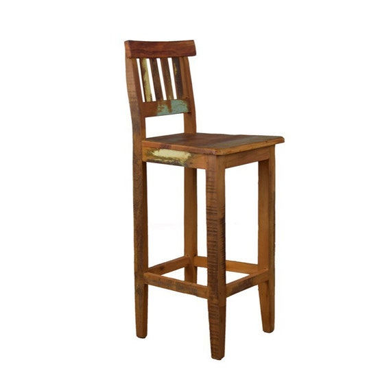 Strange Reclaimed Wood Bar Stool Bralicious Painted Fabric Chair Ideas Braliciousco