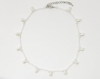 Pearl Teardrop Beaded Necklace