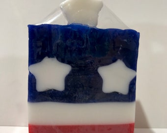 Soap, Patriotic Red, White and Blue Stars and Stripes