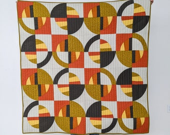 Mid-Century Modern Eclectic Style Throw Quilt