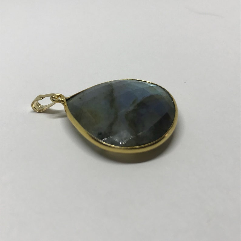 Labradorite Pendant \u2013 Sterling Silver \u2013 Labradorite Jewelry \u2013 Blue Stone Pendant \u2013 Birthstone Jewelry \u2013 Moldavite