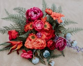 Colorful Tropical Bridal Bouquet // Red & Purple // Bridal Bouquet, Wedding Bouquet, Tropical Bouquet