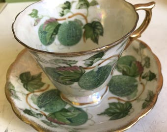 September Melon Cup and Saucer