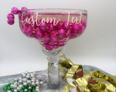 Two Styles of Glass Option - Custom Lettering - Personalized Design Margarita Party Cups Fiesta Bachelorette Party, Housewarming Gifts
