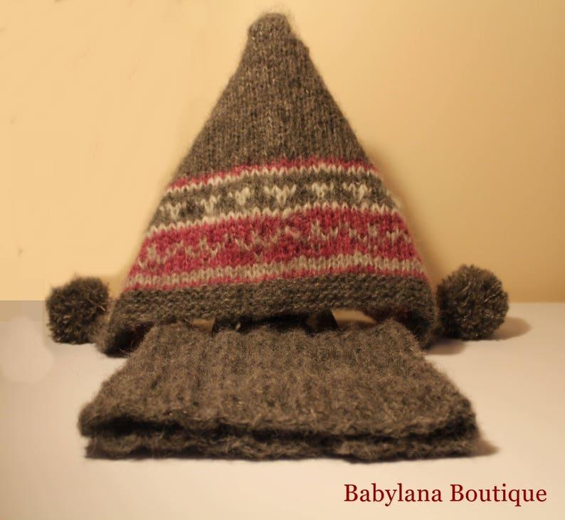 Cappello e scaldacollo ai ferri. Morbidissimo in alpaca e  d505791c5c90