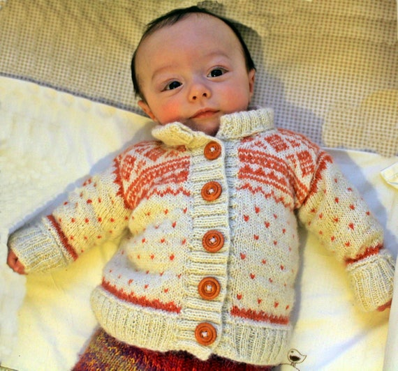Baby alpaca sweater fair isle knitted knid nordic cardigan  d05ef1fb7cd9