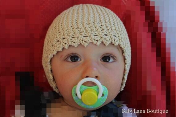 Cappellino neonato fatto a mano cuffietta bambino  160206cd17c6