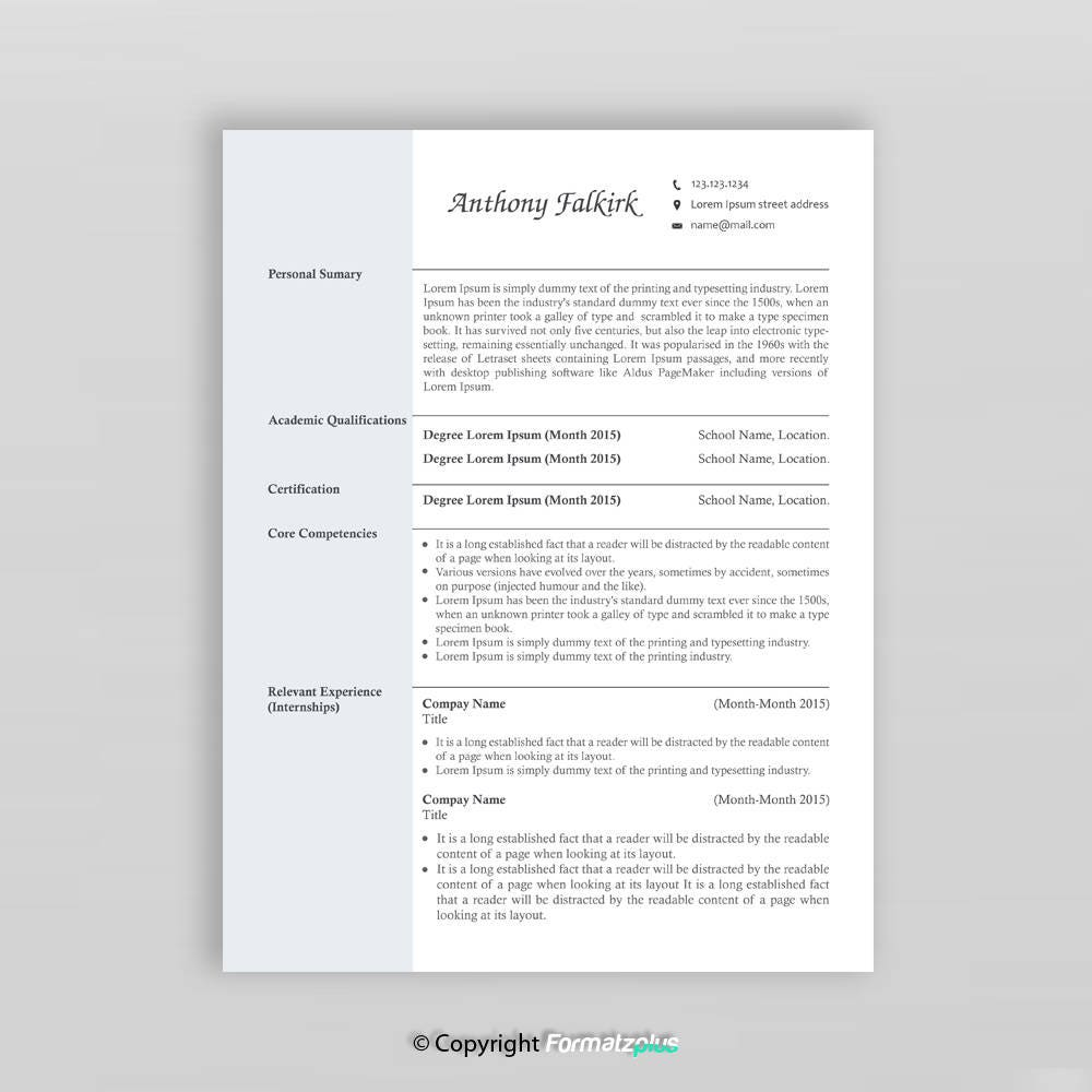 2 Page Creative Resume Template Modern Resume Resume Etsy