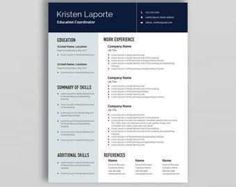 Professional Resume Template | Resume Template Word | CV Template | Minimalist Resume Template | Cover Letter Template | Creative Resume