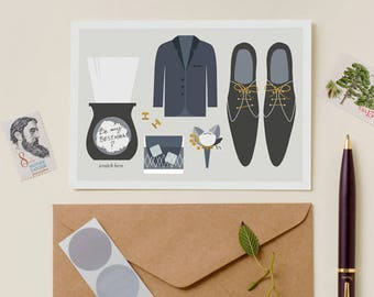 Suit Up Will You Be My Groomsman Best Man Card Scratch Off - Write Your Message