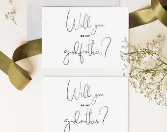 Personalised Card Real Foil Godfather Cards, Will You Be My Godfather Card Elegant Gold Foil New Baby Copper Foil Rose Gold Foil