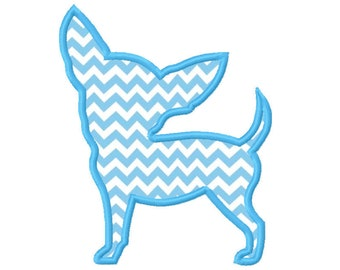 11 SIZES Chihuahua Applique Embroidery Designs Machine Embroidery Designs PES Embroidery Pattern - Instant Download
