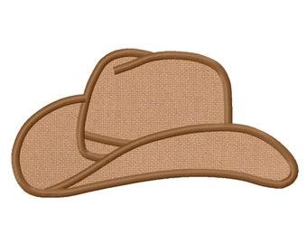 11 SIZES Cowboy Hat Applique Embroidery Designs Machine Embroidery Designs PES Embroidery Pattern - Instant Download