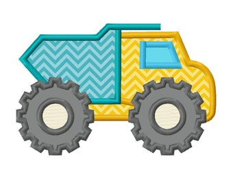 11 SIZES Dump Truck Applique Embroidery Designs Machine Embroidery Designs PES Embroidery Pattern - Instant Download