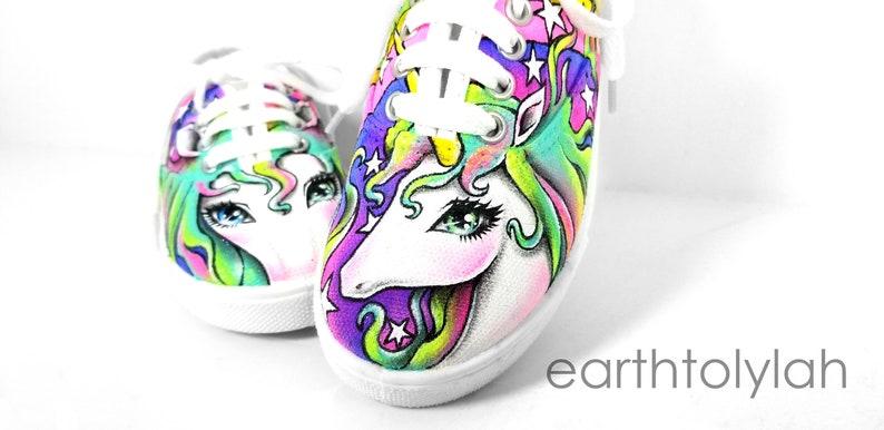 db1ba6d94e8e8 Custom Handpainted Shoes   Unicorn Shoes   Rainbow Unicorn   Canvas Toddler  Shoes   Children's Shoes   Girl Shoes