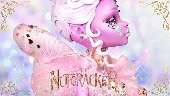 Doll Figurine Repaint The Nutcracker SUGAR PLUM FAIRY | Christmas Ballet | Monster High Ooak Repaint
