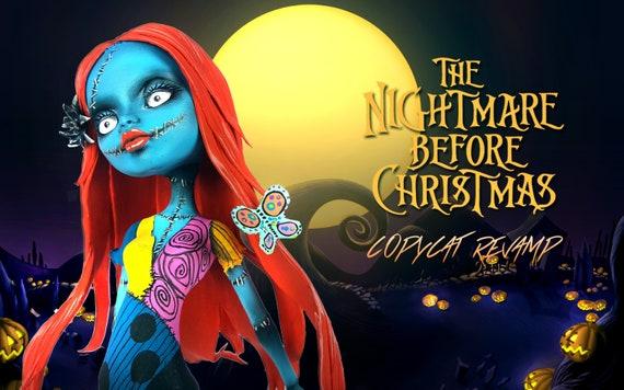 Doll Figurine Repaint SALLY The Nightmare Before Christmas | Halloween | Monster High Ooak Repaint