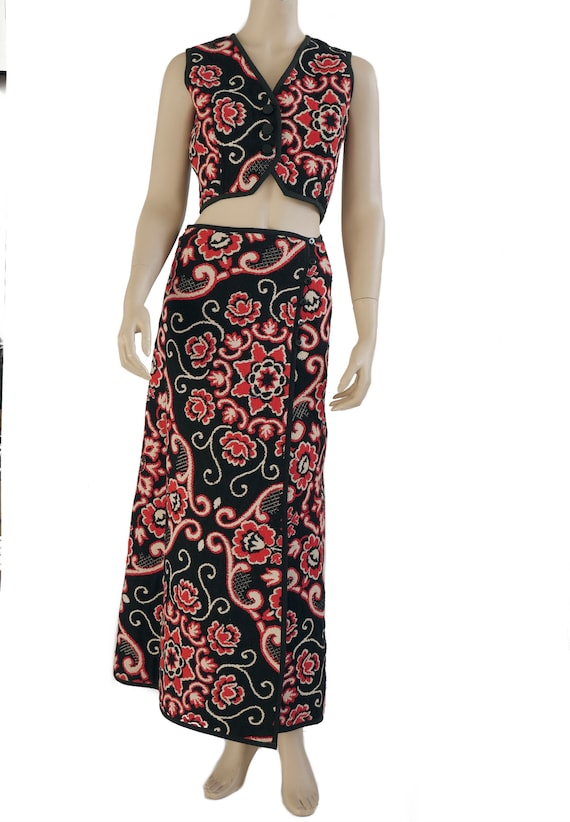 Maxi skirt with top 1970