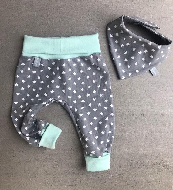 Baby Pumphose 50 56 62 68 74 80 86 92 Sterne grau schwarz Sweat handmade DaWanda