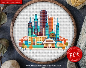 Pittsburgh P091 Embroidery Cross Stitch Pattern Instant Download