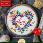 Cross Stitch Design of Heart for Instant Download *P105 | Lovely Cross Stitch| Room Decor| Needlecraft Pattern| Easy Cross Stitch