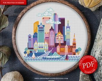 Milwaukee #P629 Cross Stitch Embroidery Pattern Instant Download | Stitching | Cross Stitch Designs | Counted Cross Stitch | Cross Designs