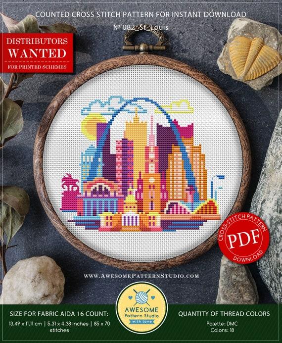 St Louis P082 Embroidery Cross Stitch Pdf Pattern Download Etsy
