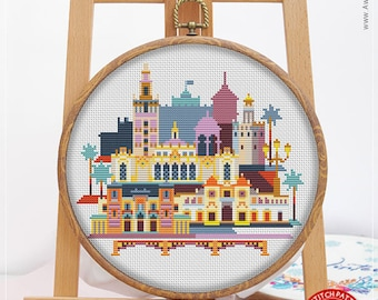 Seville CS946, Counted Cross Stitch Pattern KIT and PDF | Embroidery Kits | Stitch Patterns | Pattern Instant Download | Embroidery