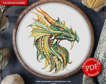 Mandala Dragon #P228 Embroidery Cross Stitch Pattern Download   Cross Stitch Kits   How To Cross Stitch   Cross Pattern   Stitch Patterns