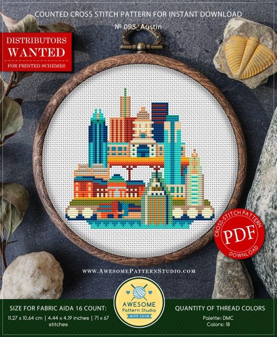 Austin P095 Cross Stitch Embroidery Pdf Pattern Download Etsy