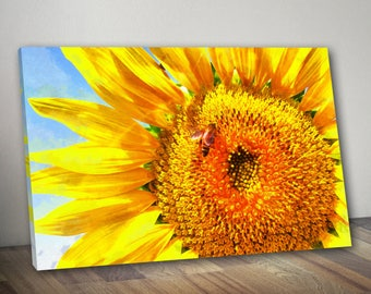 Nice Close Up Sunflower Canvas, Sunflowers Wall Art, Flowers Poster, Flowers  Print, Sunflowers Painting, Sunflowers Picture, Flowers Decor