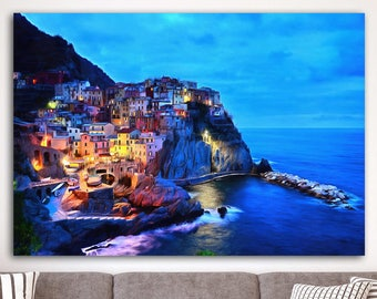 30adddee1d6 Cinque Terre Seafront Canvas