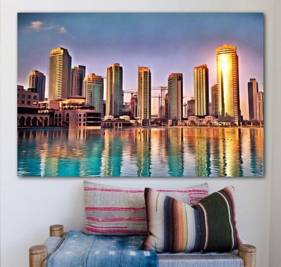 Burj al Arab Dubai 1p Bild Bilder Arabien auf Leinwand Wandbild Poster