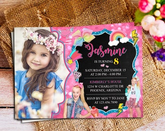 Jojo Siwa Invitations Digital, Jojo Siwa Invitation Instant Download, Jojo Siwa Birthday Invitation, Jojo Siwa Party, Jojo Siwa Inspired