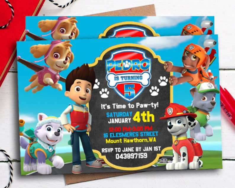 photo about Paw Patrol Printable Birthday Card titled Paw Patrol Invitation, Paw Patrol Occasion, Paw Patrol Birthday, Paw Patrol Printable, Paw Patrol Invitations, Paw Patrol Birthday Card, Boy Paw